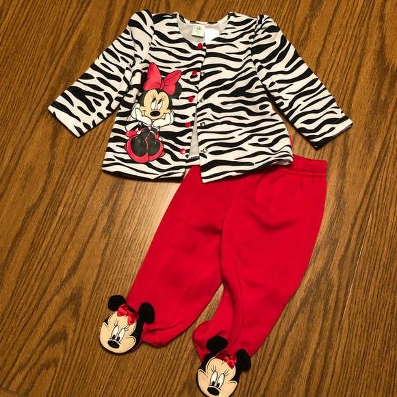 Disney Other - Baby Girl Minnie Mouse Outfit